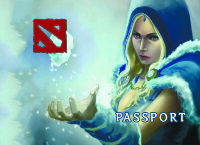 Обложка Crystal Maiden v4 для паспорта / автодокументов