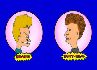 Обложка Beavis and Butt-head для паспорта / автодокументов