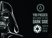Обложка Darth Vader Welcome to the dark side для паспорта / автодокументов