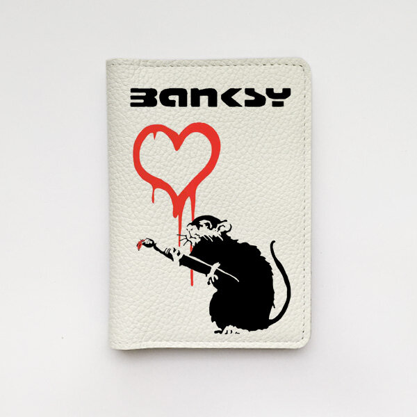 Обложка Banksy Rat and heart