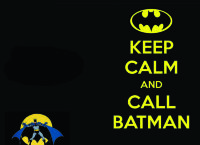 Обложка keep calm Batman для паспорта / автодокументов
