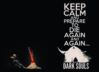 Обложка Keep Calm DarkSouls для паспорта / автодокументов